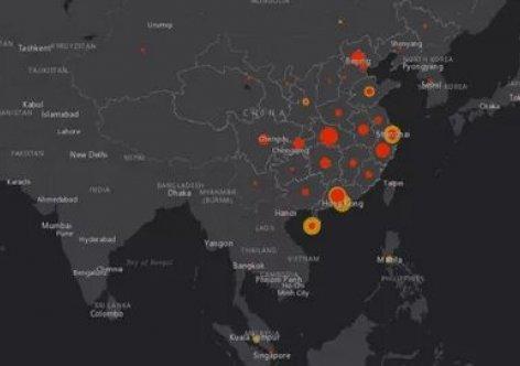 Интерактивная карта распространения китайского коронавируса